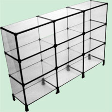 c4f12c3c09169 Balcão modulado em vidro   Molezão dos Aramados