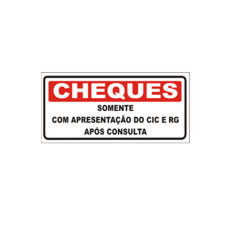 Placa cheques 13x30